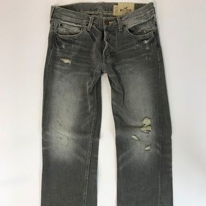 Hollister Mens BALBOA Straight Jeans SZ 32X32 Gray